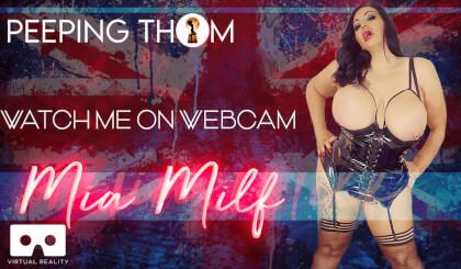 Mia MILF - Watch Me On Webcam; Huge Tits BBW Solo