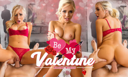 Be My Valentine - Adorable Blonde Virtual Girlfriend in Red Lingerie
