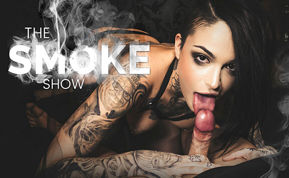 The Smoke Show - Tattooed Babe in Lingerie Rides