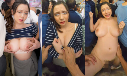 Big Tits Groping VR - Busty Japanese Babe Groped on a Train Chikan POV