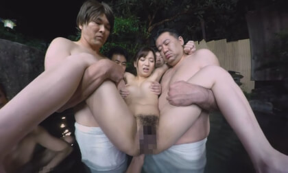 Mixed-Bathing Hot Spring Groping VR 2 - Big Tits Japanese MILF Taken in the Water