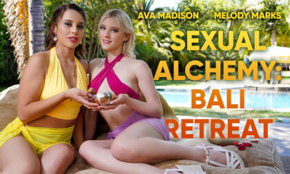 Sexual Alchemy: Bali Retreat - MFF Threesome with Melody Marks and Ava Madison