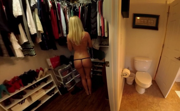 VRgirl Natasha Changing In Dressing Room VOYEUR!