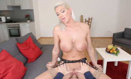 German Wunderkind - Busty Blonde Riding