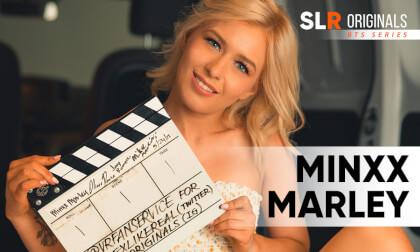 Minxx Marley - Interview; Cute Blonde Babe BTS