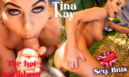 The Hot Neighbour Sunbathing In The Garden - Pornstar Tina Kay Gonzo VR