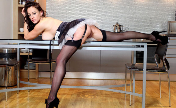 Naughty House Maid VR - MILF in Maid Costume Fucks