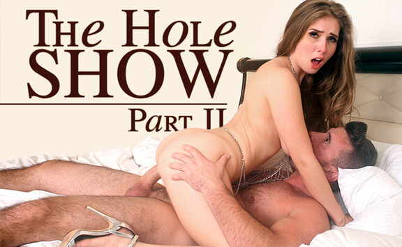 The Hole Show - Part 2 - Redhead Riding Big Cock