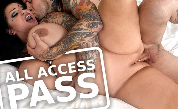 All Access Pass - Tattooed Babe with Huge Tits Fucks