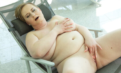 BBW Stepmom Solo Striptease and Masturbation