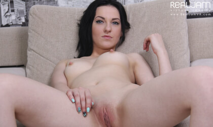 Playful Angy - Shaved Brunette Toying