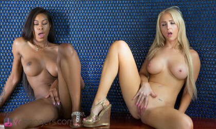 The Pool House Girls - Big Tits Lesbian Licking