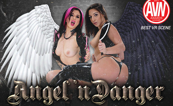 Angel 'n Danger - FFM Threesome with Goth Girls