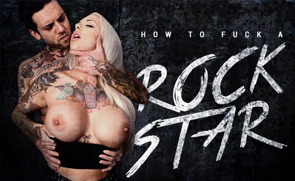 How To Fuck A Rockstar - Busty, Tattooed Blonde Fucking