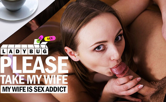 My Wife is a Sex Addict - Guy with Big Cock Fucks Her Reverse Cowgirl