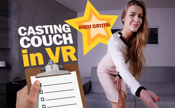 Casting Couch VR - Shaved Solo Model Toying