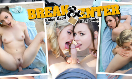 Break & Enter - Teen Threesome POV VR