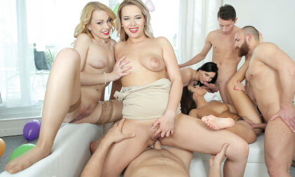 The Great Birthday Orgy - POV Pornstar Sex Party