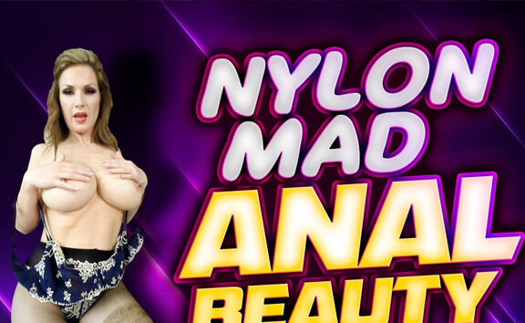Nylon Mad Anal Beauty Carol Gold - Anal Toying in Stockings