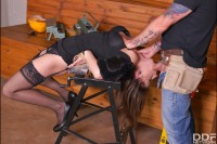 Carpenter's Revenge: Submissive Client Fucked VR porn