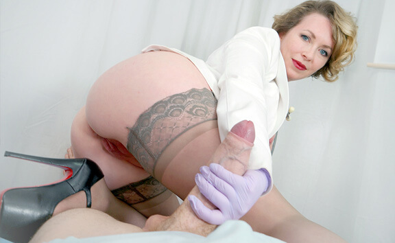 A Stiff Procedure Part 2 - Naughty Nurse Handjob