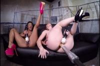 VR Porn Two Girls One Fucking Machine!