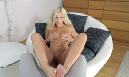 Naughty Assistant Lola Loves Cock - Blonde Footjob Hardcore