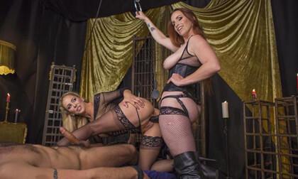 Property of Cherie DeVille Part 2: Lesbian Cuckolding - Femdom Strapon Threesome