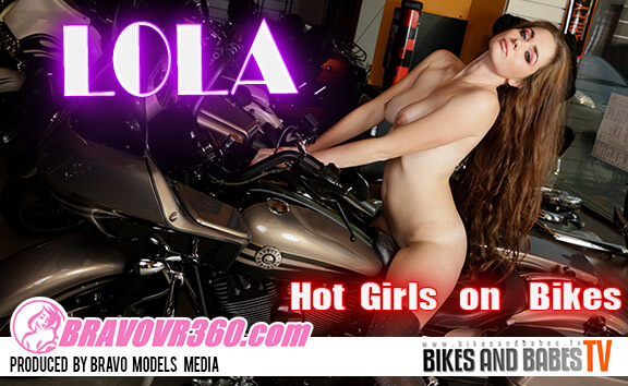 Leggy Redhead Gets Naked on Her Bike
