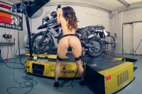 Rachel Evans Naked on her Motorcycle VR porn