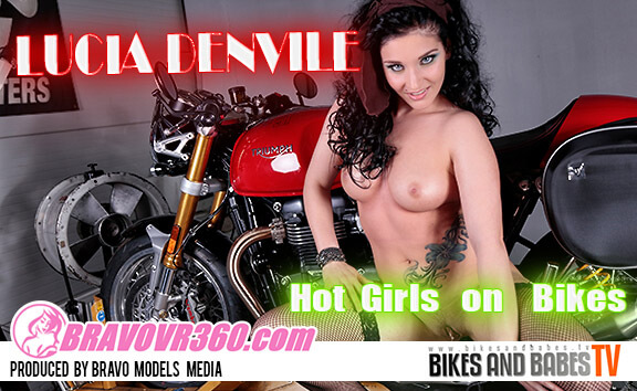 Biker Babe Gets Turned on by a Test Drive