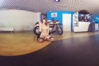 Leggy Redhead Klara Gets Naked with Her Bike VR porn