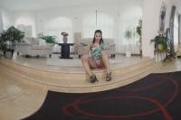 Leggy, Ebony Babe Teases Her Pussy VR porn
