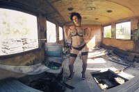 Tatted Up Babe Gets Naked in an Abandoned House VR porn