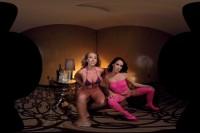 Megan Rain and Kagney Linn Karter Topless Lapdance VR porn