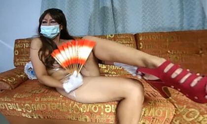 Japanese Manga Style With Foil And Rubber Gloves - Thick Asian MILF