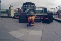 Petite Sara Toys on the Rooftop VR porn