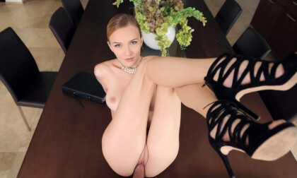 Naughty Hotel Manager - Cum Eating Redhead
