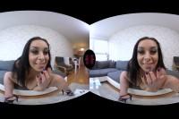 Brunette With Big Tits Masturbates VR porn