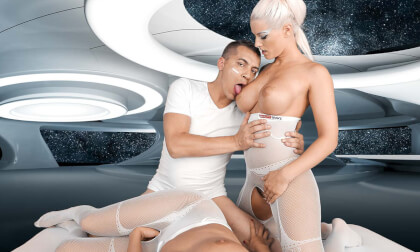 Space Orgasm: Reloaded POV - Threesome with Two Busty Girls