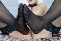 Katy Sky Footfetish VR porn