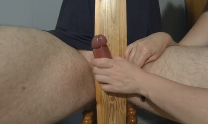 Exposed Cock And Balls Cumming Twice