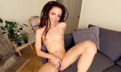 Jazmin Rajani Turns Her We-Vibe into a Me-Vibe; Solo Brunette Masturbing for You!