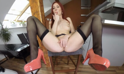 Under My Skirt with Katy Gold - Redhead Solo