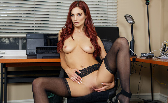 Assets Under Management - Solo Redhead Babe with Toy
