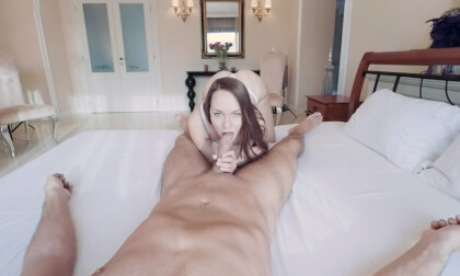 Blue Angel POV - Amateur Blowjob and Fuck
