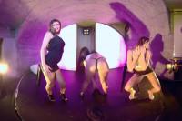 Kinga & Nicole & Sofia Striponstage VR porn