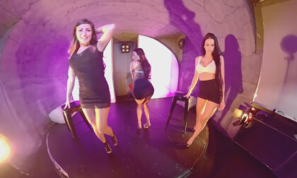 Kinga & Nicole & Sofia Striponstage - Three Girls Striptease