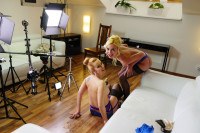 Squirt All Over Me starring Victoria Puppy and Mandy Paradise VR porn