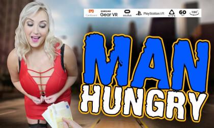 Man Hungry - Blonde Big Tits BBW Blowjob